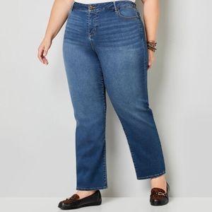 Avenue 5 Pocket Knit Denim Straight Leg Jeans NWT